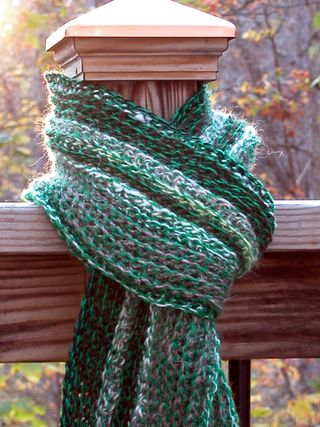 Green Stripe for Red Scarf - 2