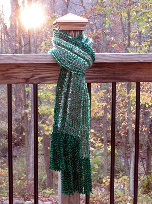Green Stripe for Red Scarf - 1