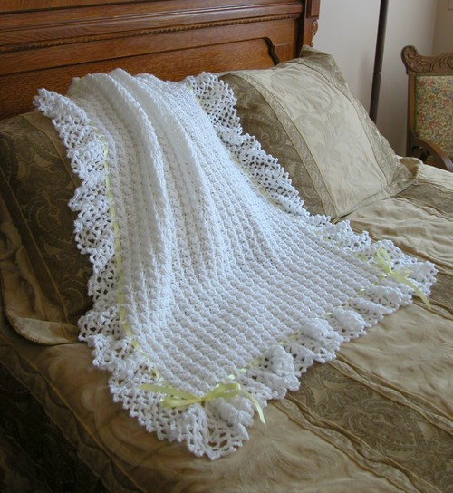 Free Crochet Patterns Christening Blankets : Finished Objects 2006: Christening Blanket